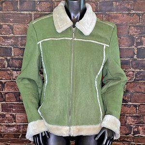 Braetan Faux Suede Winter Coat - Size Large